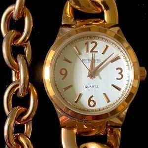 """RJ Graziano Watch & rolo italy bracelet Set euc 7"""""""